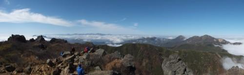 妙高山山頂からのパノラマ