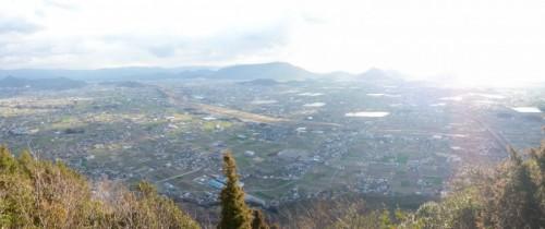 山頂展望所からの景色。