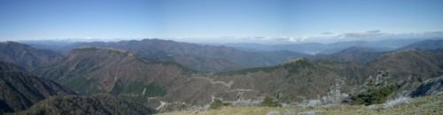 剣山山頂からの絶景。北側方面。