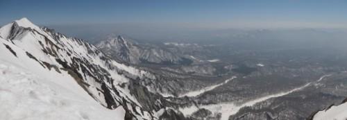 大山山頂からの景色