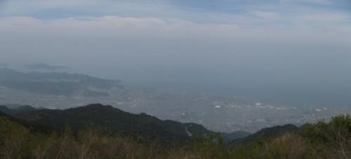 赤星山山頂から瀬戸内海方面の絶景