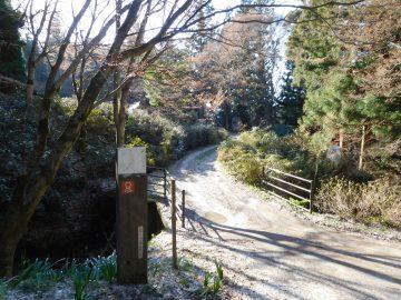 玉峰山キャンプ場への入口