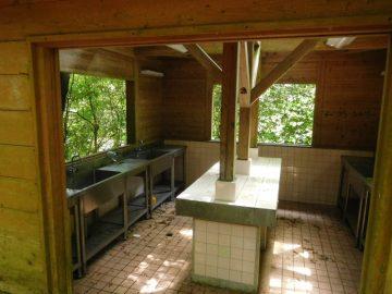 帰全山公園キャンプ場の炊事