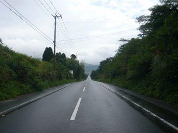 五島の直線道路