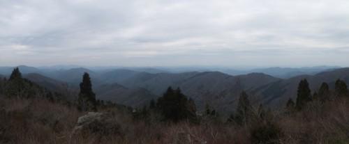 恐羅漢山山頂からの景色