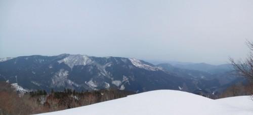 霰ヶ山山頂からの景色