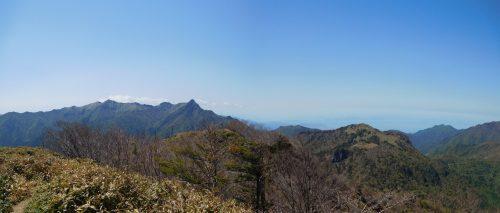 筒上山山頂からのパノラマ