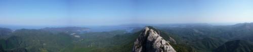 州藻白岳山頂からのパノラマ