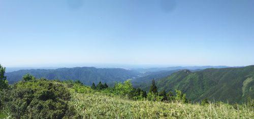 若杉山から北側の景色