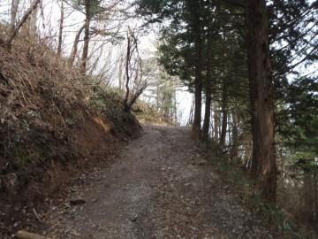 成就社までの登山道
