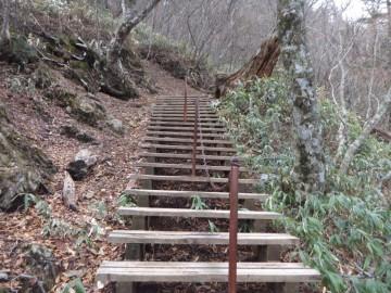 石鎚山登山道
