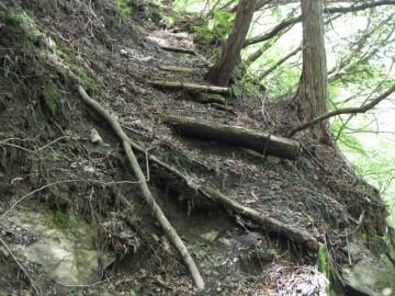 千丈滝付近の登山道