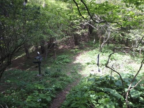 野田登山口方面との三差路