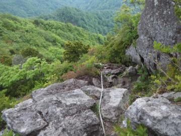 烏ヶ山の岩登り