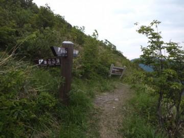 象山山頂下の分岐