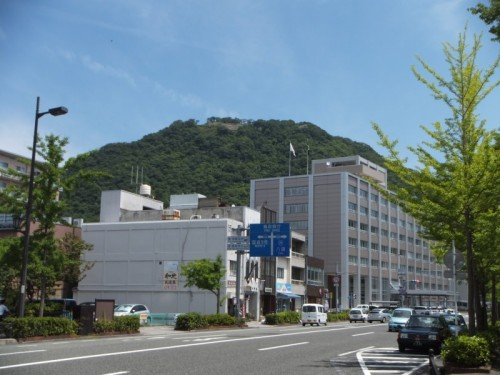鳥取県庁奥にある久松山