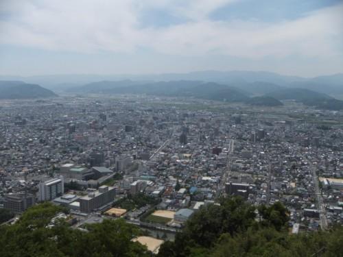 山頂から見る鳥取市街地