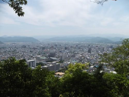 5合目から見る鳥取市街地
