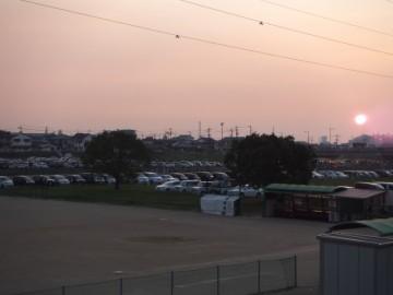 新居浜花火大会の駐車場