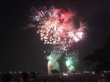 新居浜花火大会の花火
