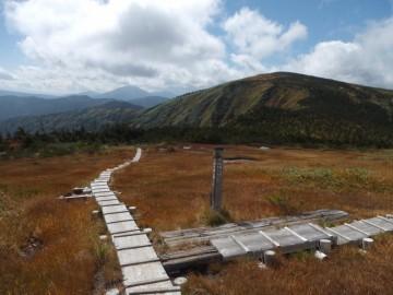 平が岳山頂への道