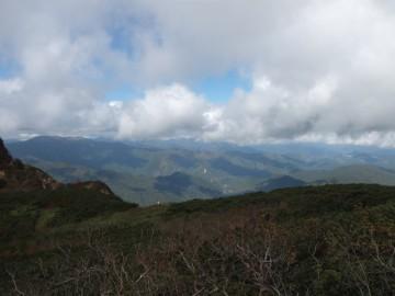 会津駒ケ岳方面の眺望