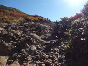 7合目付近の登山道