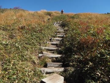巻機山山頂へ向けての最後の登り