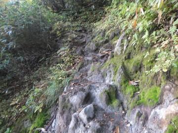 妙高山登山道