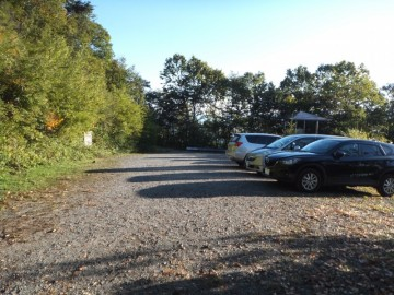 林道終点の駐車場