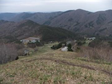 ゲレンデ最上部の上からの景色
