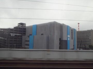 新幹線から見たイオンモール岡山