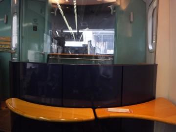 青いソニックのグリーン車1D席からの前面展望
