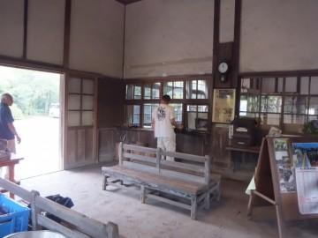 嘉例川駅の駅舎内
