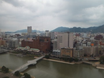 北九州市役所展望室からの景色