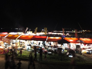 中村の花火大会の屋台