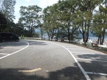 筆山公園駐車場。