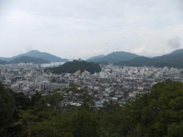 愛宕公園から見る宇和島市街