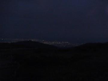 太郎平小屋の所から見る富山平野の夜景