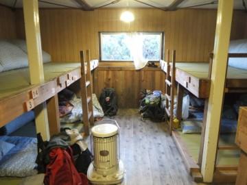 三俣山荘のメインの部屋