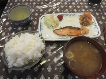 三俣山荘の朝食