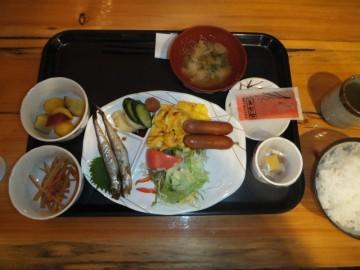 和田小屋の朝食
