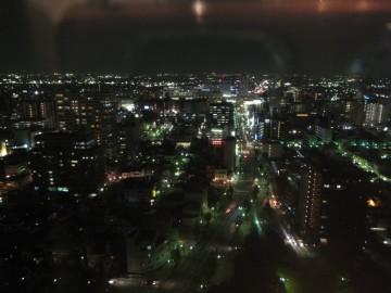 高崎市役所から中心街(東方面)の夜景