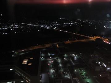 高崎市役所から西方面の夜景