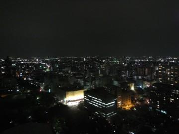 高崎市役所から北方面の夜景