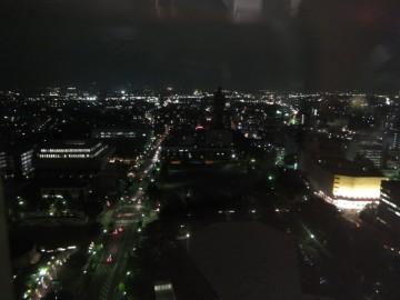 高崎市役所から南方面の夜景