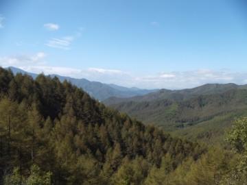 三国峠から長野県側の景色