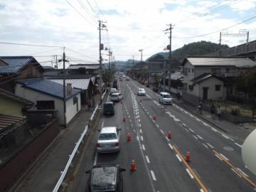 瀬戸大橋まつりの会場に向かう渋滞