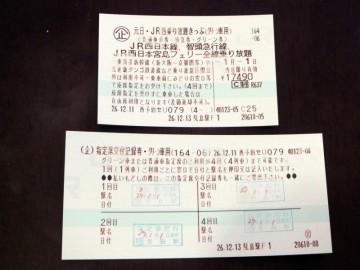 JR西日本元日乗り放題切符