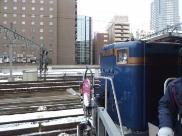 札幌駅でのトワイライトエクスプレス